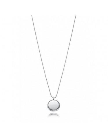 Collar Viceroy mujer de metal con colgante circular y filo bolitas