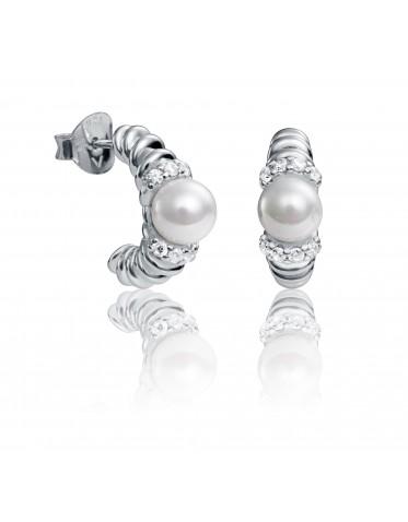 Pendientes Viceroy mujer en plata con perla y circonitas