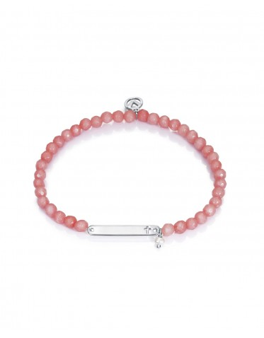 Pulsera Viceroy comunión niña de plata con ágatas color rosa