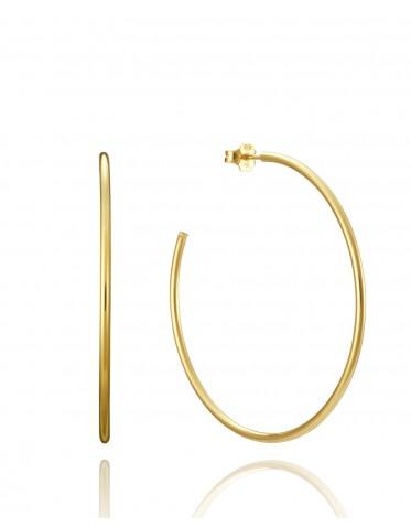 Pendientes Viceroy mujer de plata dorada,  tipo aros 54 mm.