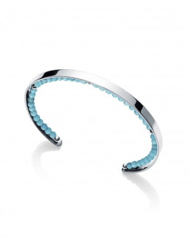 Brazalete abierto Viceroy mujer de acero con piedras color azul turquesa