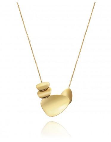Collar Viceroy mujer de acero dorado con colgante de 4 piezas planas