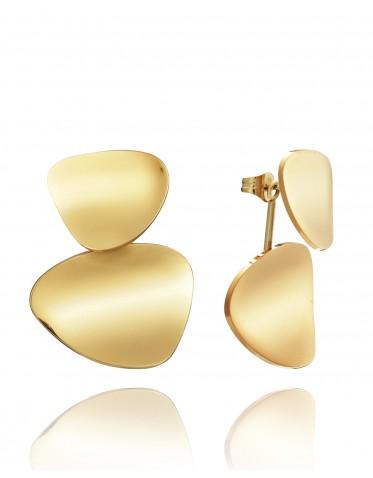 Pendientes Viceroy mujer de acero dorado  formado por dos piezas
