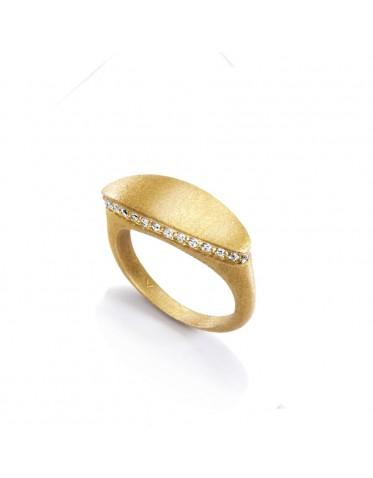 Anillo Viceroy mujer plata dorada forma sello oval