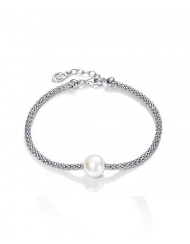 Pulsera Viceroy mujer de plata tipo cordón con perla