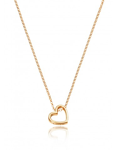 Collar Viceroy mujer plata chapada en oro con motivo corazón