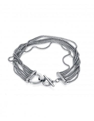 Pulsera Viceroy mujer de acero formada por nueve cadenas