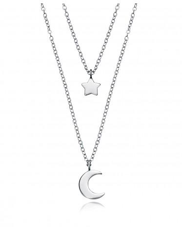Collar Viceroy de mujer en plata motivos luna y estrella