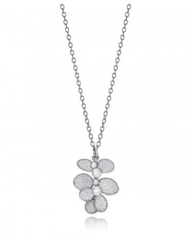 Collar Viceroy mujer de plata con diseño hojas