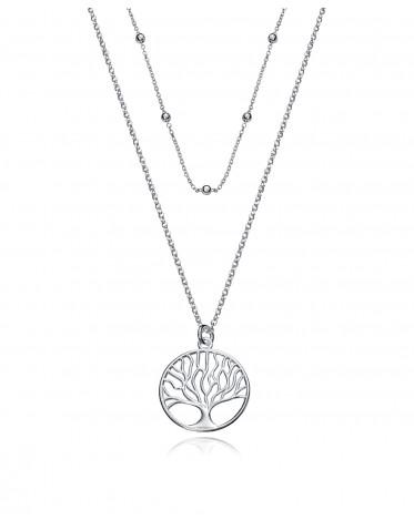 Collar doble Viceroy mujer de plata con colgante del árbol de la vida