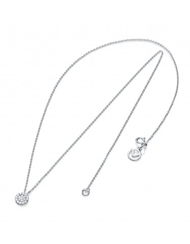 Collar Viceroy mujer de plata con colgante redondo circonitas