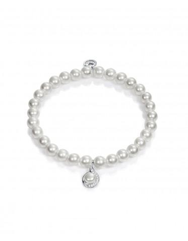 Pulsera Viceroy mujer de plata y perlas 6 mm.