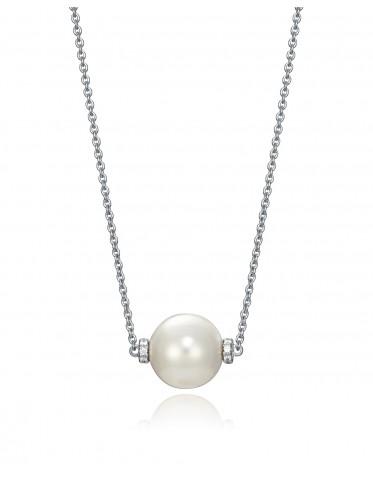 Collar Viceroy mujer de plata con colgante de perla de 11 mm.