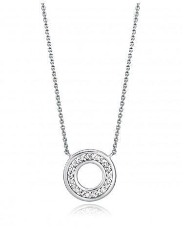 Collar Viceroy mujer de plata con colgante forma disco calado con circonitas