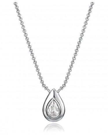 Collar Viceroy mujer de plata con colgante forma lágrima con circonita