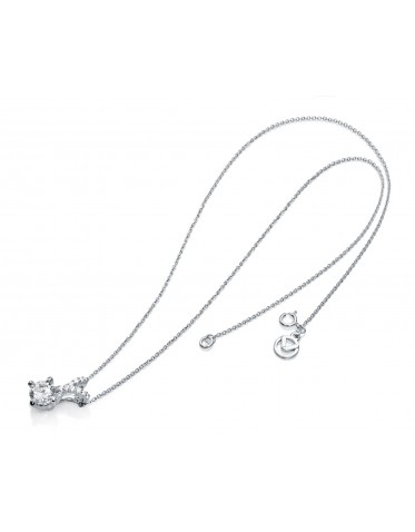 Collar Viceroy mujer de plata con colgante en forma de V con circonita