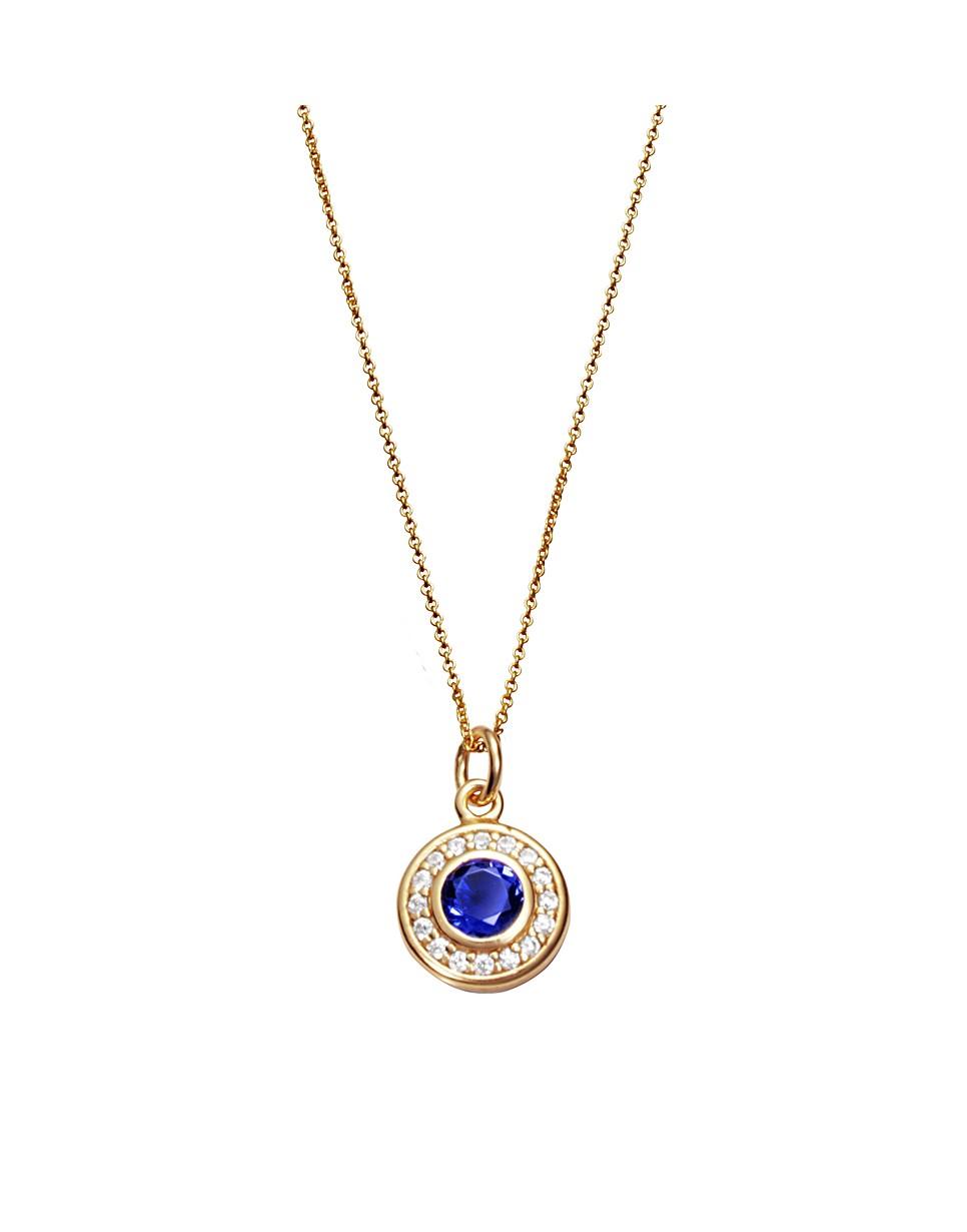 Collar Viceroy mujer de plata chapada con motivo circular con cristal azul