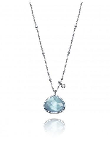 Collar Viceroy mujer en plata con colgante cristal azul