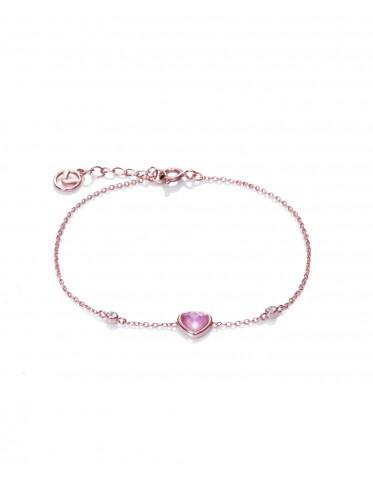 Pulsera Viceroy mujer en plata rosada con cristal rosa