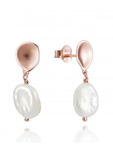 Pendientes Viceroy mujer en plata rosada con perla