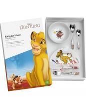 Vajilla del ReY león diseñado por  Disney