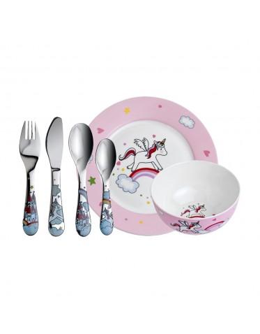 Set de vajilla Porcelana de 6 piezas Unicornio