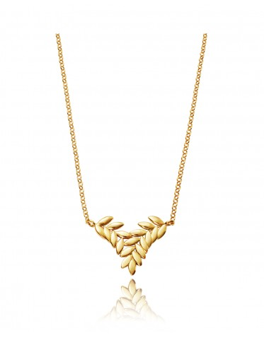 Collar Viceroy mujer de plata dorada motivo espigas entrelazadas