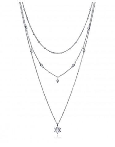Collar Viceroy triple cadena con motivo central en forma de estrella
