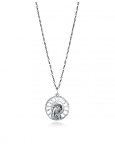 Collar Viceroy niña de plata con medalla Virgen Niña
