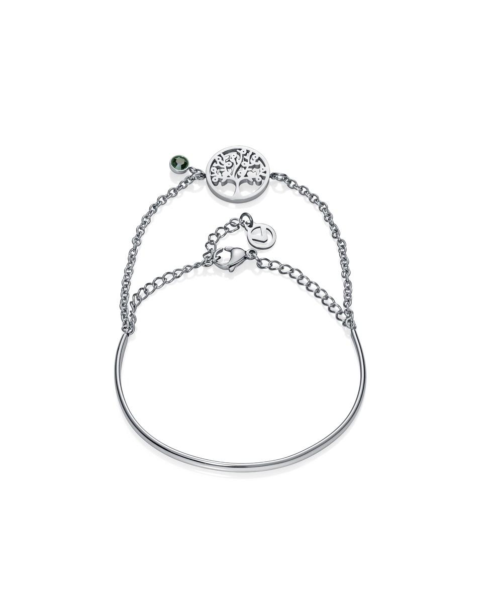 Collar de mujer Viceroy Kiss con tres cadenas de acero  y árbol de la vida