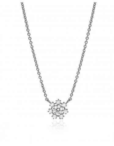 Collar Viceroy mujer en plata con colgante forma copo de nieve