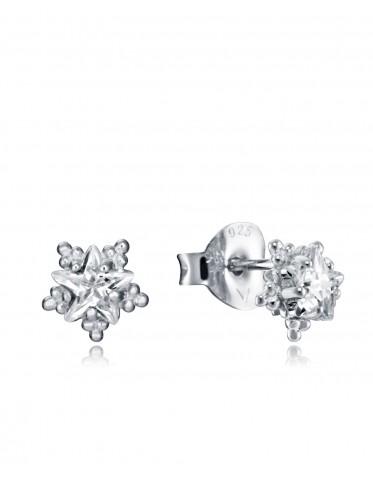 Pendientes Viceroy mujer en plata con forma copo de nieve