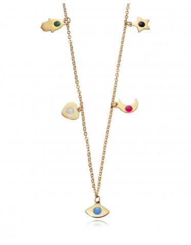 Collar  Viceroy mujer de acero dorado con charms