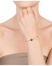 Pulsera Viceroy mujer en acero dorado con cristal verde