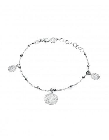 Pulsera Viceroy mujer de plata con 3 monedas