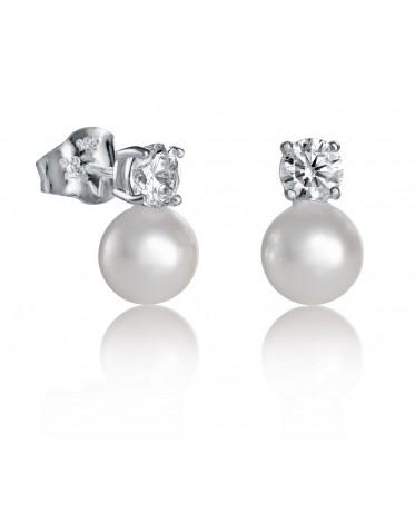Pendientes Viceroy mujer de plata con circonita y perla