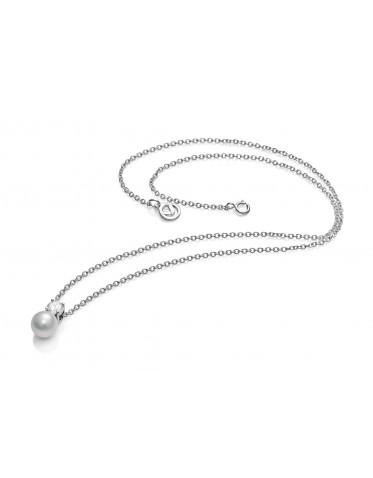 Collar Viceroy mujer de plata con colgante de circonita y perla