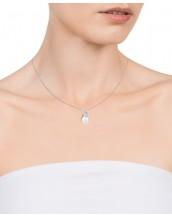 Collar Viceroy mujer de plata diseño tú y yo con circonita y perla