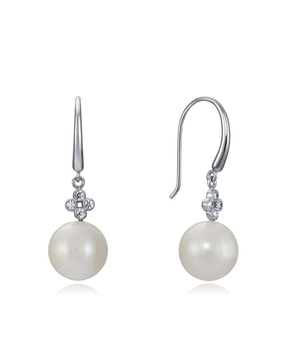 Pendientes Viceroy mujer de plata, tipo gancho con perlas