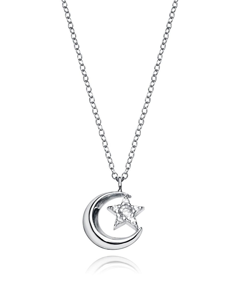 Collar  Viceroy mujer de plata con colgante forma luna con estrella