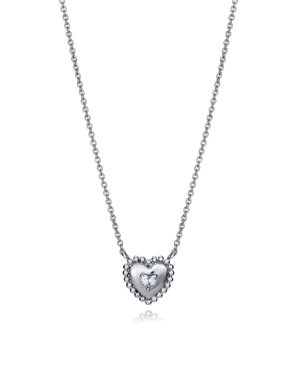 Collar Viceroy mujer de plata con motivo corazón