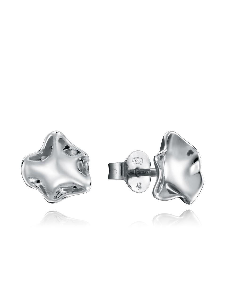 Pendientes Viceroy mujer de plata diseño similar a una flor