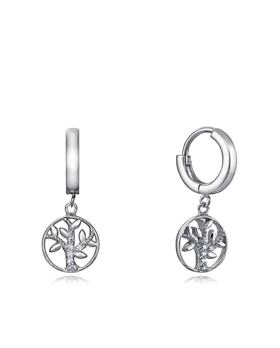 Pendientes Viceroy mujer de plata, tipo aro con motivo árbol de la vida