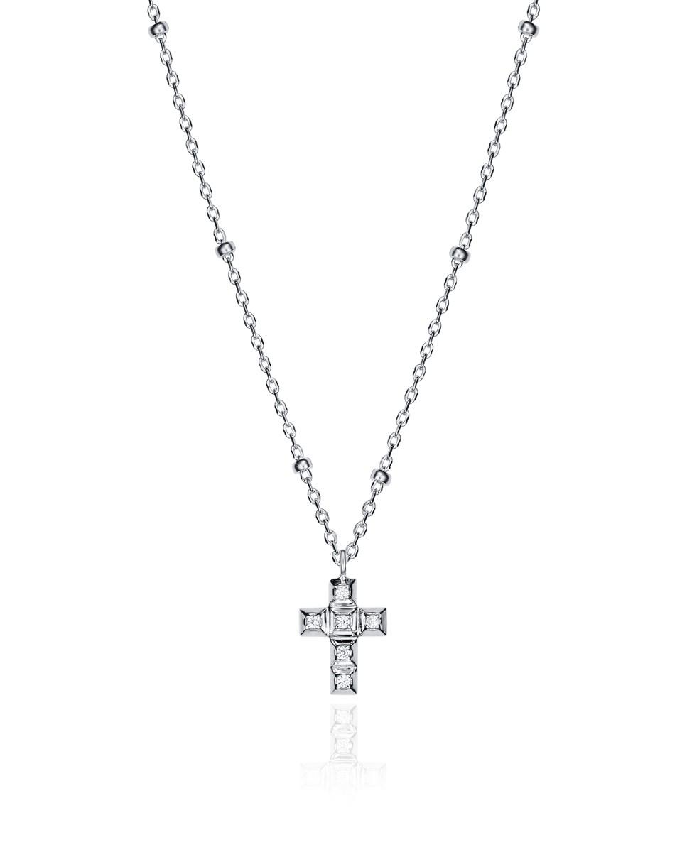 Collar Viceroy de mujer con colgante en forma de cruz con circontias.