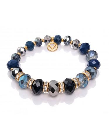 Pulsera Viceroy mujer de metal con cristales azules