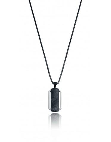 Collar Viceroy hombre de acero con placa IP negro