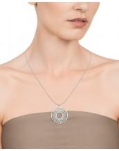 Collar Viceroy mujer de acero con colgante forma disco calado