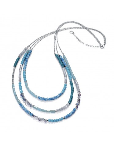 Collar Viceroy mujer de metal con cristales tonos azules