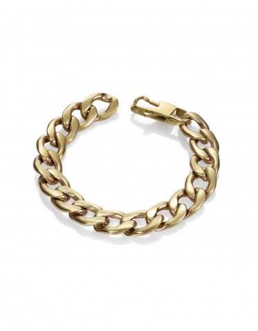 Pulsera Viceroy mujer de acero dorado con cadena barbada