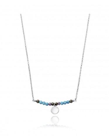 Collar Viceroy  mujer de plata  con centro de piedras varios colores